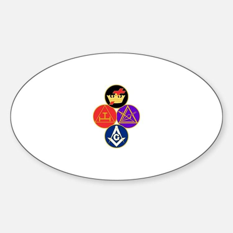 York Rite Sticker (Oval)
