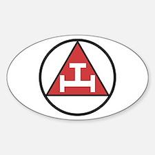 Royal Arch Black Sticker (oval)
