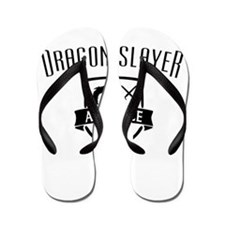 Cute Dragon and dice Flip Flops