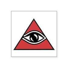 "Mystic Eye Square Sticker 3"" X 3"""