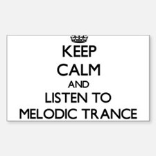 Keep calm and listen to MELODIC TRANCE Decal