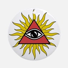 Mystic Eye With Rays Ornament (round)