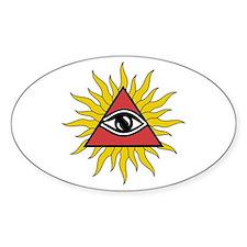 Mystic Eye With Rays Sticker (oval)