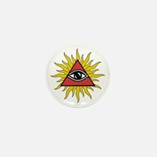 Mystic Eye With Rays Mini Button