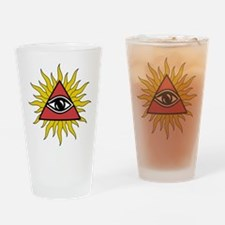 Mystic Eye with Rays Drinking Glass