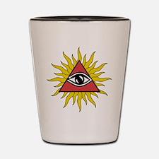 Mystic Eye with Rays Shot Glass