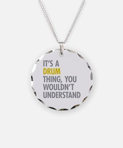 Its A Drum Thing Necklace Circle Charm