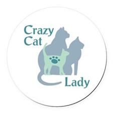 Crazy Cat Lady2222 Round Car Magnet