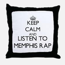 Cute Memphis radio Throw Pillow