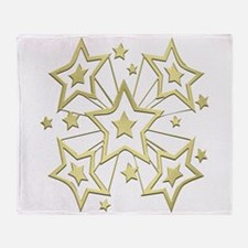 Gold Star Burst Throw Blanket