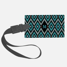Ikat Pattern Luggage Tag