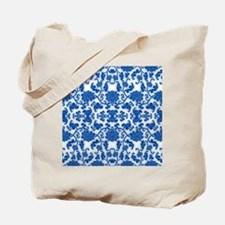 modern blue floral abstract pattern Tote Bag