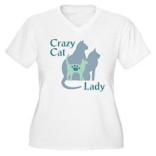 Crazy Cat Lady2222 Plus Size T-Shirt