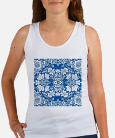modern blue floral abstract pattern Tank Top