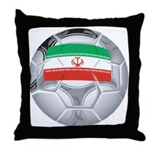 Iran Football Throw Pillow