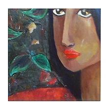 Indian Girl Tile Coaster