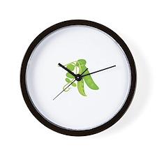 Peas Plant Wall Clock