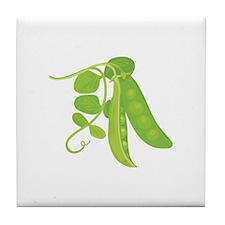 Peas Plant Tile Coaster