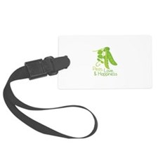 Peas Love Happiness Luggage Tag