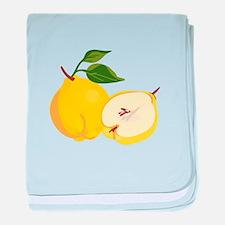 Quince Fruit baby blanket