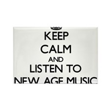 Keep calm and listen to NEW AGE MUSIC Magnets