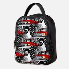 RED MONSTER TRUCK Neoprene Lunch Bag