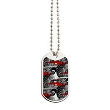 RED MONSTER TRUCK Dog Tags