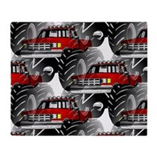 RED MONSTER TRUCK Throw Blanket