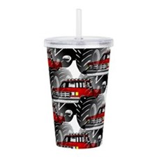 RED MONSTER TRUCK Acrylic Double-wall Tumbler