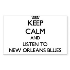 Keep calm and listen to NEW ORLEANS BLUES Decal