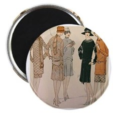 Flapper Winter Fashion Magnets