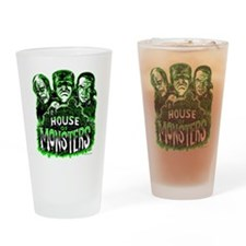 Monsters Haunted House Drinking Glass
