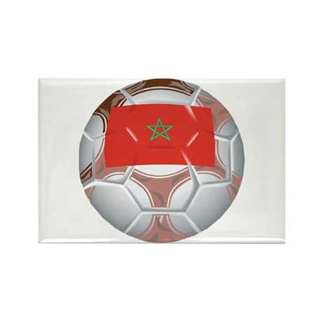 Morocco Football Rectangle Magnet (10 pack)