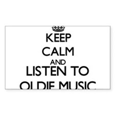 Keep calm and listen to OLDIE MUSIC Decal