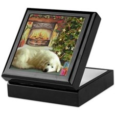 Great Pyrenees Keepsake Box, Christmas