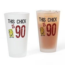 Women's Funny 90th Birthday Drinking Glass
