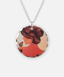 MS butterflies in flight Necklace