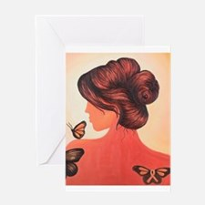 MS butterflies in flight Greeting Cards