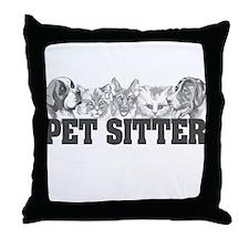 Pet Sitter Throw Pillow