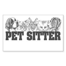 Pet Sitter Rectangle Decal