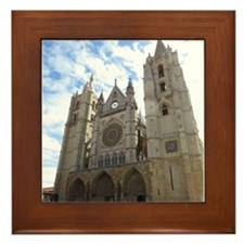 Framed Tile With Leon Cathedral
