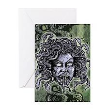 Head of Medusa Greeting Card