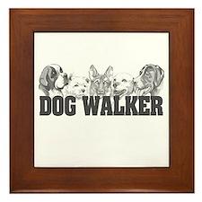 Dog Walker Framed Tile