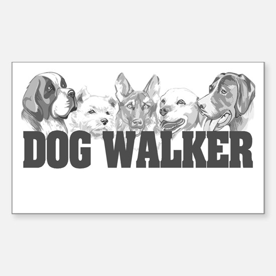 Dog Walker Rectangle Decal
