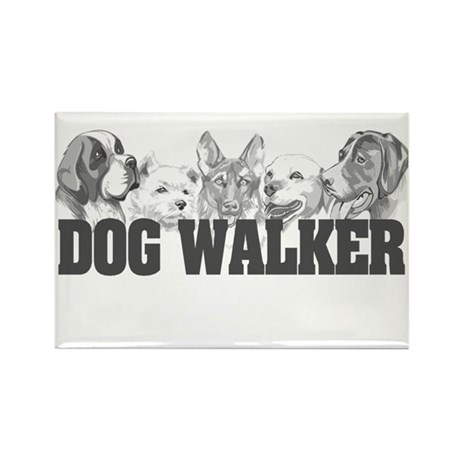 Dog Walker Rectangle Magnet (10 pack)