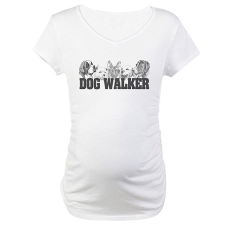 Dog Walker Maternity T-Shirt