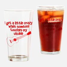 Ukulele Crazy Drinking Glass
