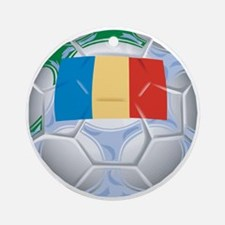 Romania Football Ornament (Round)