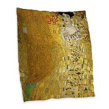 Adele Bauer by Klimt Burlap Throw Pillow