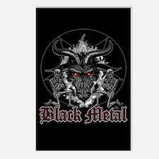 Black Metal Baphomet Pent Postcards (package Of 8)